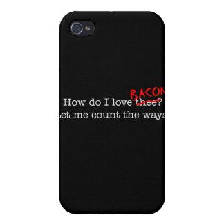 Tocino cómo lo hace el amor Thee de I iPhone 4/4S Carcasa