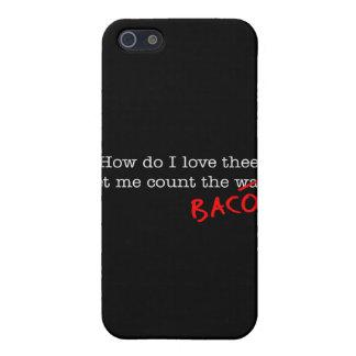 Tocino cómo lo hace el amor Thee de I iPhone 5 Cobertura