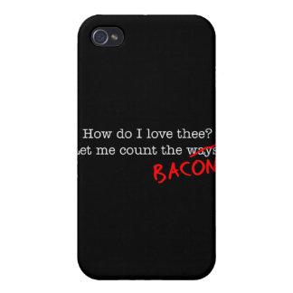 Tocino cómo lo hace el amor Thee de I iPhone 4/4S Fundas