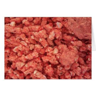 Tocino de la carne de la carne picada tarjeta de felicitación