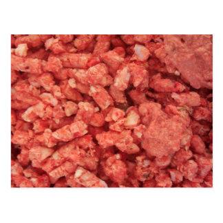 Tocino de la carne de la carne picada postal