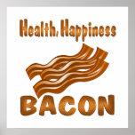Tocino de la felicidad de la salud poster