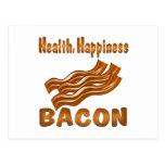 Tocino de la felicidad de la salud tarjetas postales