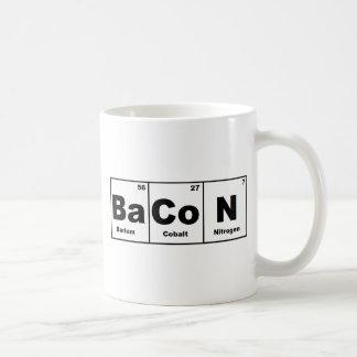 Tocino de la tabla periódica taza de café