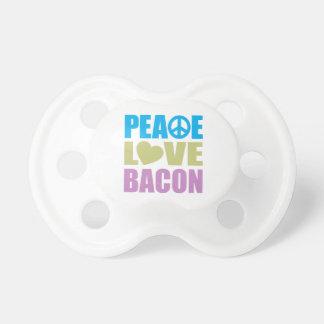 Tocino del amor de la paz chupete de bebe