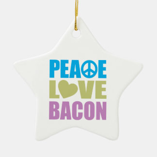 Tocino del amor de la paz adorno de cerámica en forma de estrella