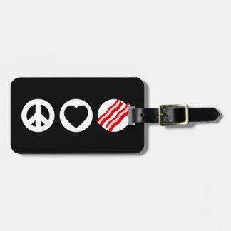 Tocino del amor de la paz etiquetas bolsas