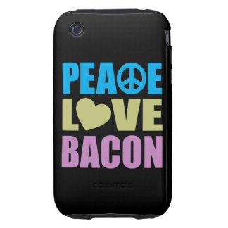 Tocino del amor de la paz iPhone 3 tough carcasas