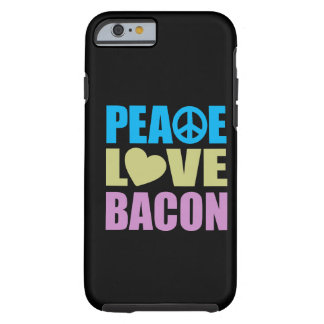 Tocino del amor de la paz funda de iPhone 6 tough