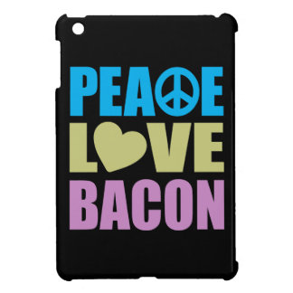 Tocino del amor de la paz iPad mini carcasas
