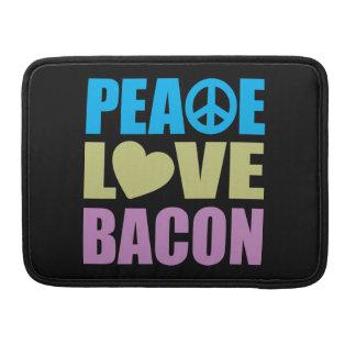 Tocino del amor de la paz fundas para macbook pro