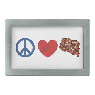 Tocino del amor de la paz hebilla cinturon rectangular