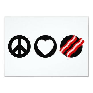 Tocino del amor de la paz comunicados personalizados