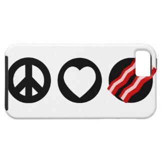 Tocino del amor de la paz iPhone 5 carcasas
