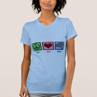 Tocino del amor de la paz camiseta