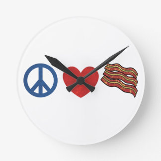Tocino del amor de la paz reloj