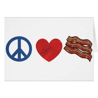 Tocino del amor de la paz tarjeta de felicitación