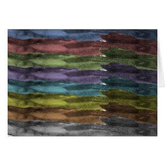 Tocino del arco iris tarjeta de felicitación
