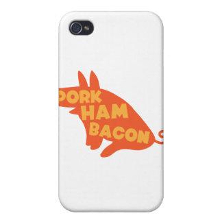 tocino del jamón del cerdo iPhone 4 carcasa