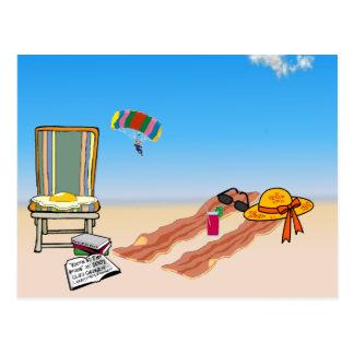 Tocino en la playa postal