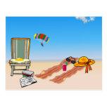 Tocino en la playa tarjetas postales
