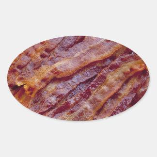 Tocino frito pegatina ovalada