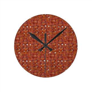 Tocino frito reloj redondo mediano