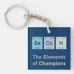 Tocino, los elementos de campeones llavero