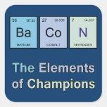 Tocino, los elementos de campeones calcomania cuadradas