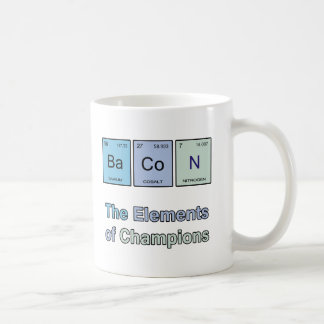 Tocino, los elementos de campeones taza de café