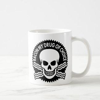 Tocino mi droga de la opción (c) WhiteTigerLLC.com Taza Básica Blanca