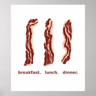 Tocino para el desayuno, el almuerzo, y el poster