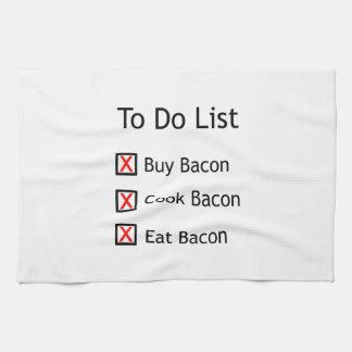 Tocino para hacer la lista toalla de mano