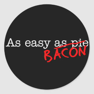 Tocino tan fácil como etiqueta redonda