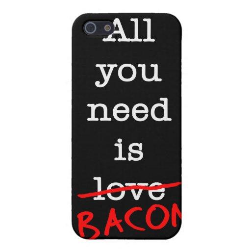 Tocino todo lo que usted necesita iPhone 5 funda