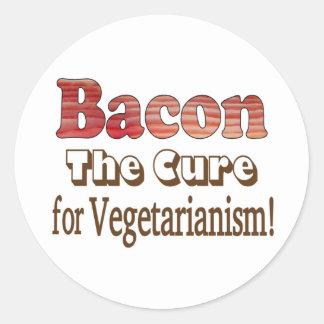 Tocino vegetariano pegatina redonda