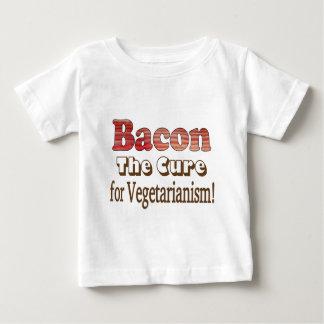 Tocino vegetariano playera para bebé