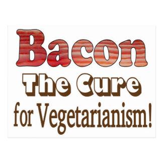 Tocino vegetariano postal