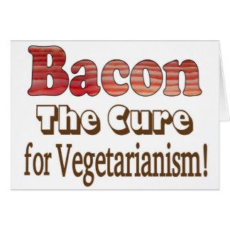 Tocino vegetariano tarjeta de felicitación