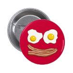 Tocino y botón de los huevos pin