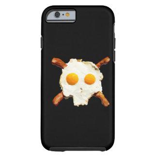 tocino y cráneo de los huevos funda de iPhone 6 tough