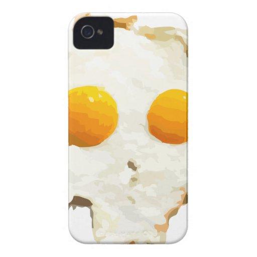 tocino y cráneo de los huevos iPhone 4 carcasas
