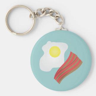 Tocino y desayuno de los huevos llaveros