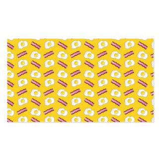 Tocino y huevos amarillos tarjetas de visita
