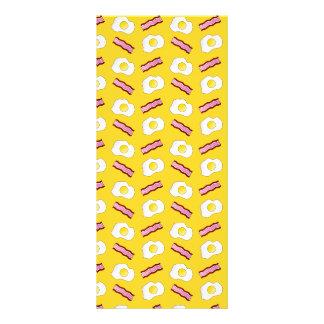 Tocino y huevos amarillos tarjeta publicitaria personalizada