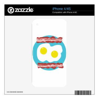 Tocino y huevos calcomanías para el iPhone 4S