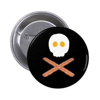 Tocino y huevos cráneo y perno de la bandera pirat pin