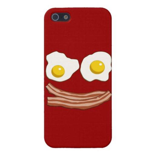 Tocino y huevos iPhone 5 protectores