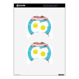 Tocino y huevos mando xbox 360 calcomanía