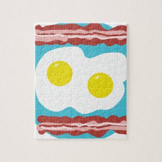 Tocino y huevos puzzles con fotos